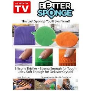 BETTER SPONGE Silicone Mildew-Free Sponges (Pack of 3) BetterSponge