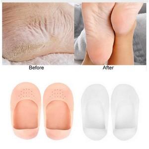 Moisturizing No Show Socks - Gel Boat Socks for Dry Cracked Feet Socks for Relieve Heel Pain