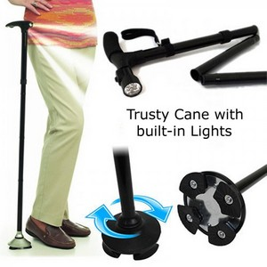 Trusty cane with built in lights